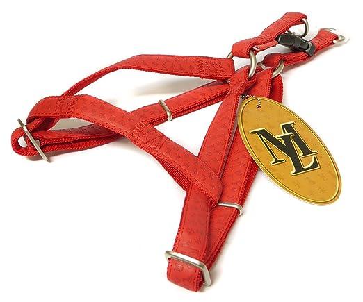 Paramount por contacto Ta mascota marcas Mac arnés de cuero rojo 2 ...