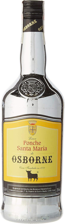 Ponche Santa María de Osborne Bebida espirituosa elaborada a base de licor de Brandy de jerez - botella de 1L