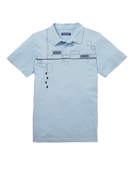 JD Williams Mens Premier Man Tailored Collar Polo Shirt Blue