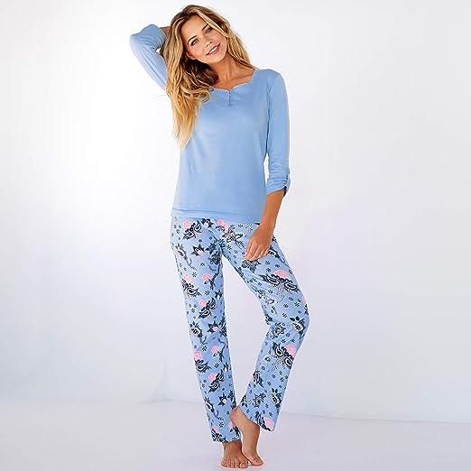 VENCA Pijama Camiseta Lisa con Escote Redondeado by Vencastyle: Amazon.es: Ropa y accesorios