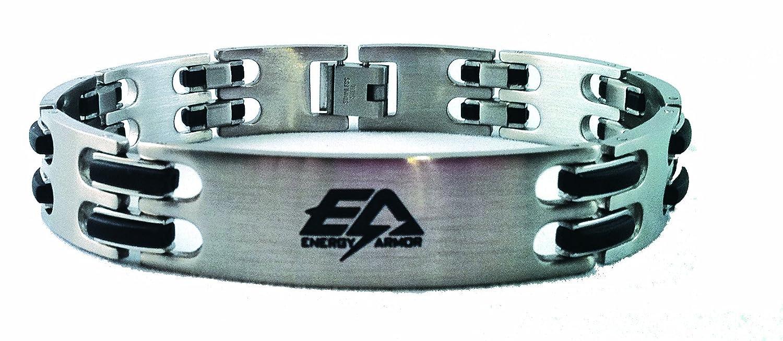 9a5932955071b Amazon.com: Energy Armor Stainless Steel Men's Bracelet (Small): Jewelry