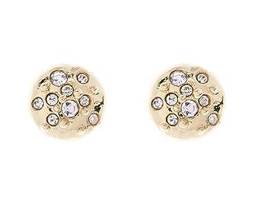 0824b9436 Karen Millen Gold/Crystal Sprinkle Stud Earrings: Amazon.co.uk: Jewellery