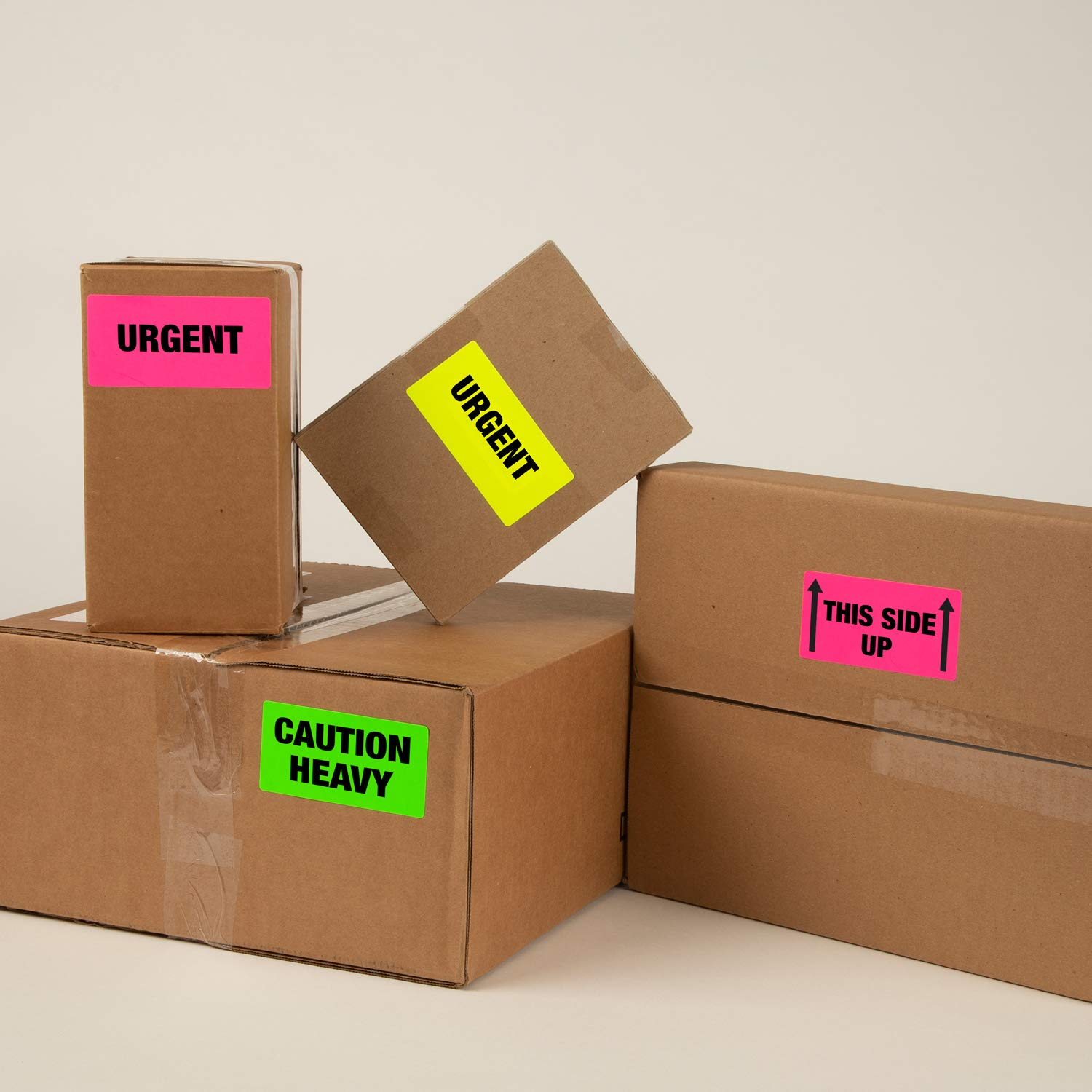 Avery High-Visibility Neon Shipping Labels for Laser Printers 2'' x 4'', Assorted Colors, Box of 1,000 (5964) by Avery (Image #2)