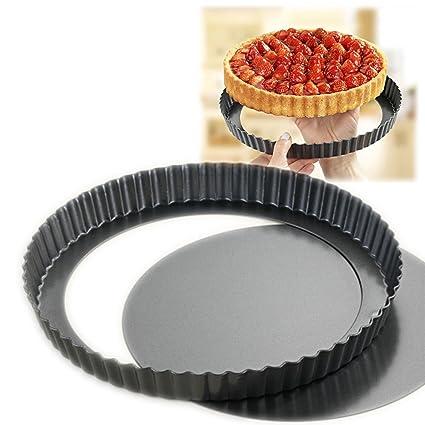 fruta tartas y - Molde para tarta con base extraíble 26 cm molde para tortas