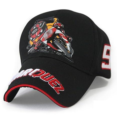 Nueva Marc Marquez 93 MotoGP Moto Racing béisbol gorro gorra 2 colores, Negro
