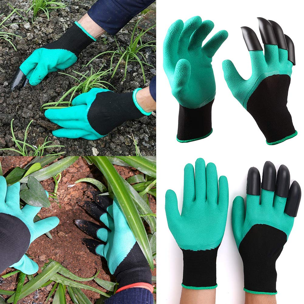 """Auger Drill Bit Garden Plant Flower Bulb Auger 3/"""" x 10/"""" Rapid Planter Post or Umbrella Hole Digger For 3//8/"""" Hex Drive Drill with Garden Genie Gloves"""