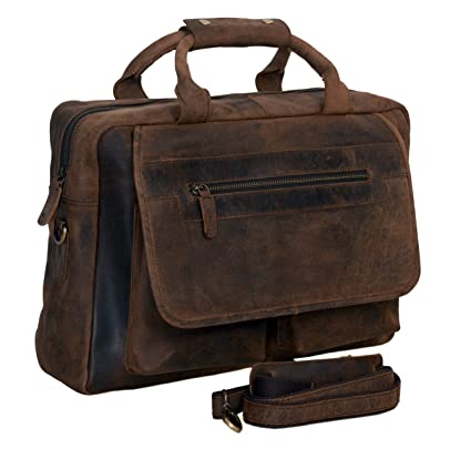 9da028f1dad7 Image Unavailable. Image not available for. Color  KomalC 16 Inch Retro  Buffalo Hunter Vintage Leather Laptop ...