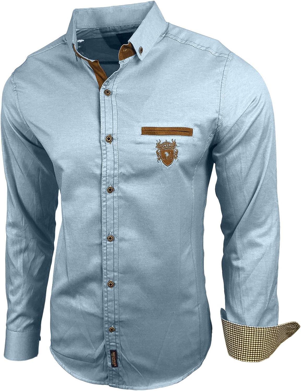 Baxboy - Camisa para hombre - Slim Fit - Fácil planchado - Para traje, negocios, bodas, ocio - Camisa de manga larga para hombre: Amazon.es: Ropa y accesorios