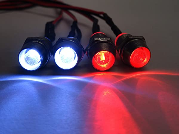 Apex RC Products 4 LED Headlight/Taillight Kit w/ Bezels - Universal for 1/10 Scale RC Models 9012