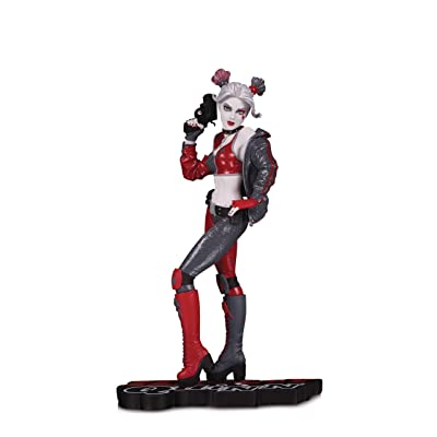 DC Collectibles Harley Quinn Red, White & Black: Harley Quinn by Joshua Middleton Statue, Multicolor: Toys & Games