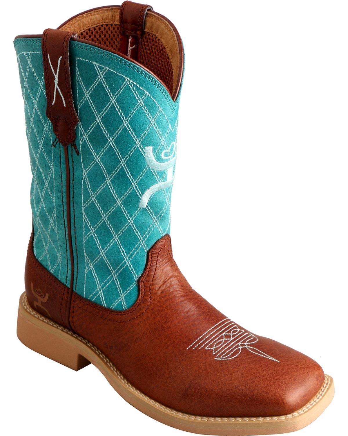 Twisted X Boys' Hooey Cowboy Boot Square Toe - Yhy0006 B01E4I9MMA 6 M US Big Kid|Cognac