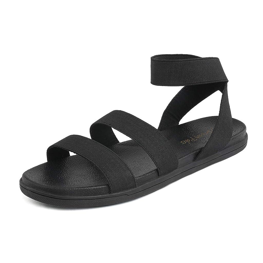 DREAM PAIRS GREEK-01 Womens Platform Wedge Slip On  Street Casual Flat Sandals