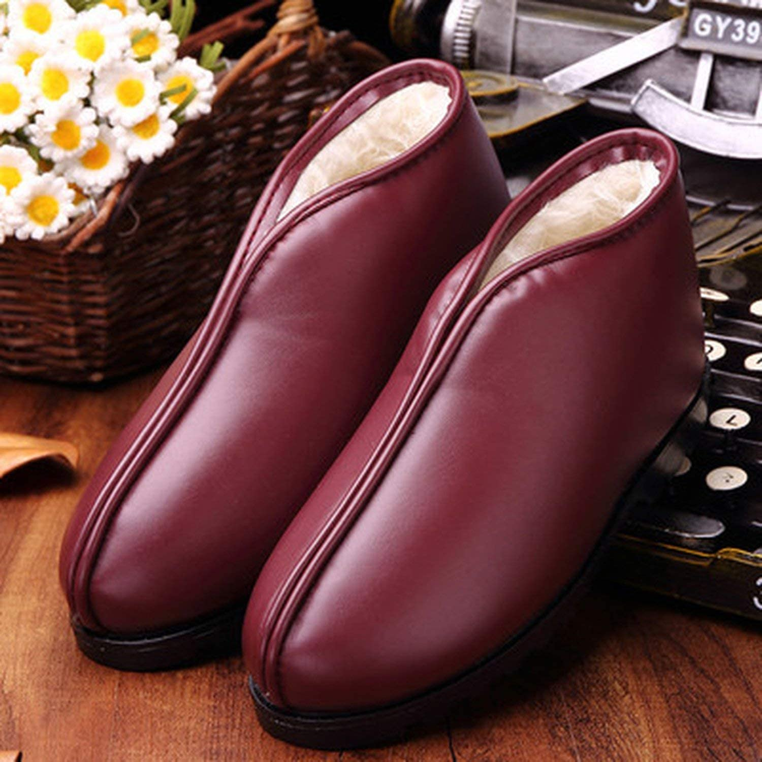 Dai Yao Warm Winter Mothers Cotton Shoes Elderly Snow Boots Warm Shoes Boots Female Flat Shoes,1,9