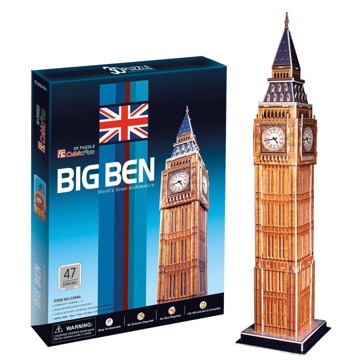 Ak Sport - 0625610 - Puzzle 3d - Big Ben - 47 Pièces