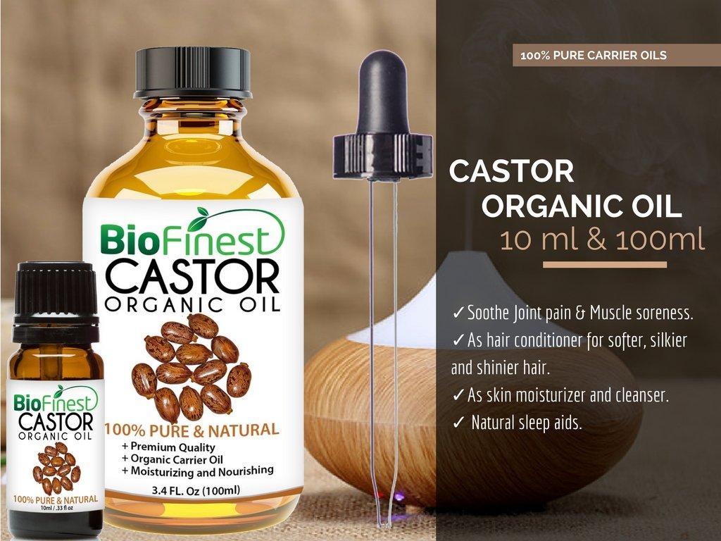 da8aa78324f Amazon.com: Biofinest Castor Organic Oil - 100% Pure, Natural, Cold-Pressed  - Premium Quality - Best Moisturizer for Hair, Face & Skin - Boost Wound ...