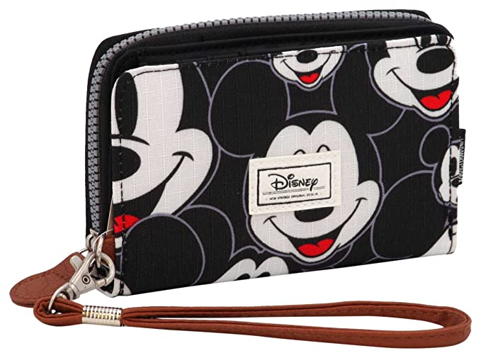 Karactermania Disney Classic Mickey Visages Monederos, 16 cm, Negro