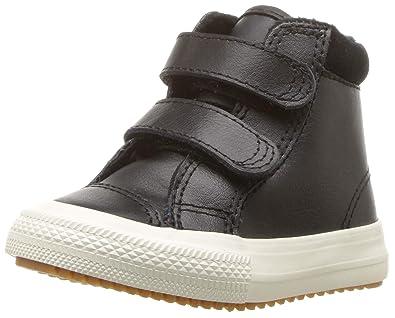 a422b5e6ba25 Converse Girls  Chuck Taylor All Star 2V High Top Boot Sneaker Burnt  Caramel Black