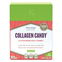 Reserveage, Collagen Candy to Support Healthy Skin and Nails and Promote Collagen and Elastin Production, Paleo and Keto, Sour Apple, 2.3 Ounces (20 Servings)
