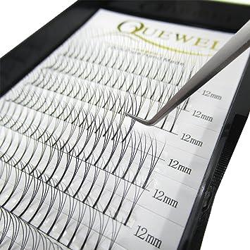 9ca5a9a0c58 Quewel Lash Russian Volume Eyelash Extensions 3D 5D C D Curl 8-15mm Long  Thickness 0.07