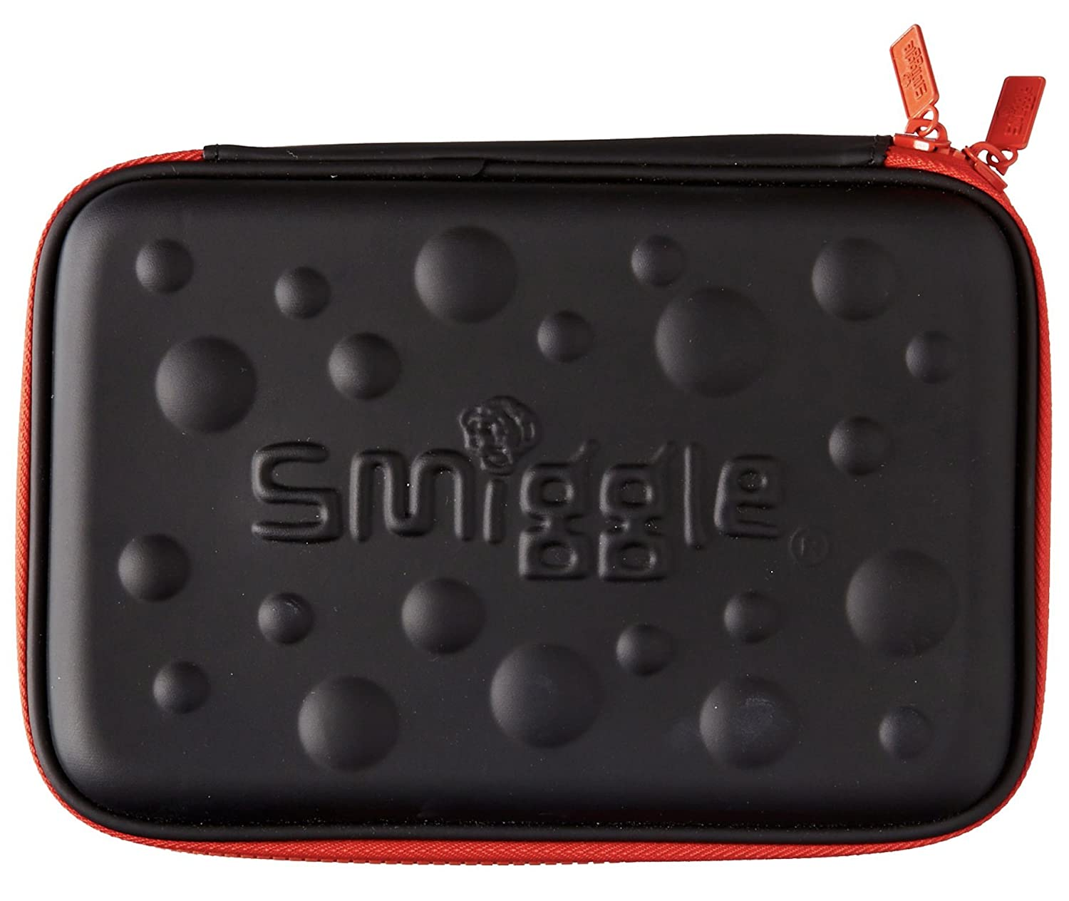Multi Slot Black & Red Bubble Top School Stationery Pencil Case Smiggle