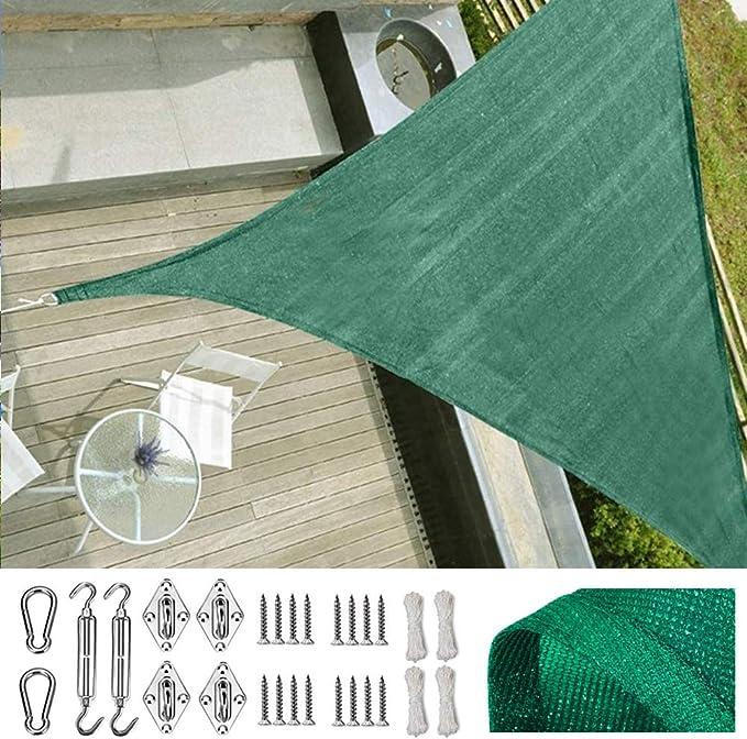 SUNDUXY Verde Toldo Vela de Sombra Triangular, 95% de protección ...