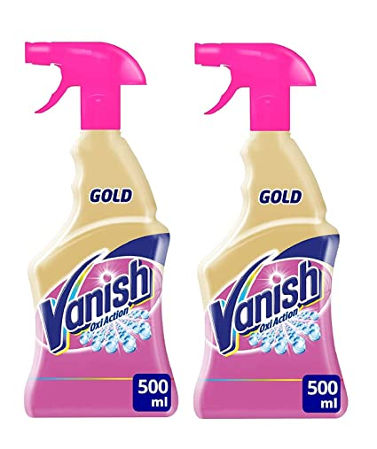Vanish Gold Spray Pretratante - 2 Paquetes de 500 ml - Total: 1000 ml