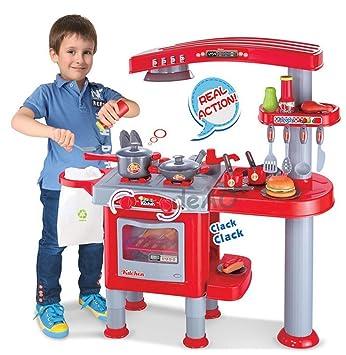 Cocina de juguete para niños - Juego de imitación con más de 30 ...