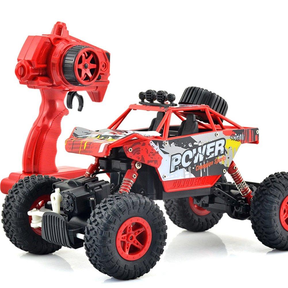 FEI Babyspielzeug Fernbedienung Allradantrieb Geländewagen Allradantrieb 2.4G Fernbedienung Kinder Spielzeug Spielzeug Spielzeug Frühe Erziehung (Farbe : Rot) 60f3b2