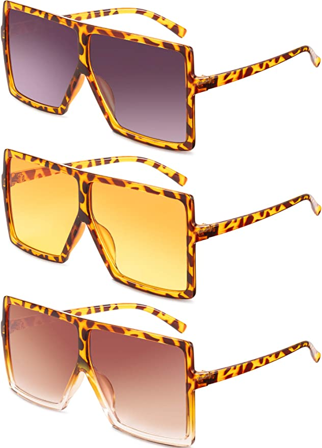 Oversized Jelly Flat Top Sunglasses