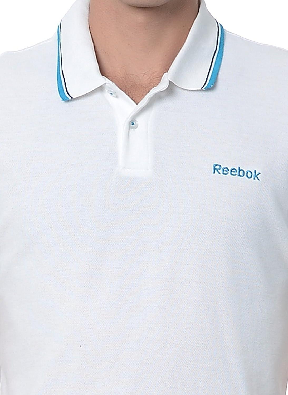 Reebok - Polo - para hombre Blanco blanco XXL: Amazon.es: Ropa y ...