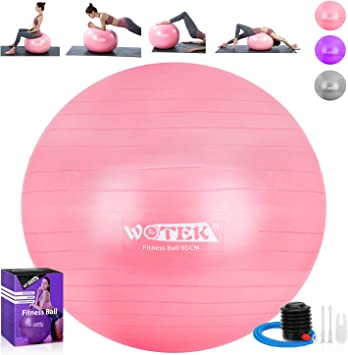 WOTEK - Pelota de Gimnasia (65 cm), Color Rosa: Amazon.es ...