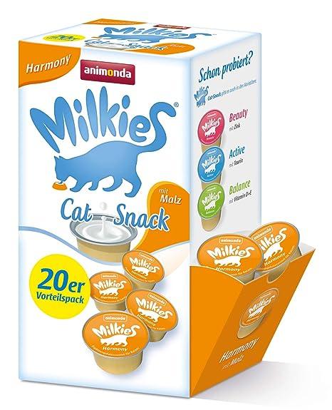 Animonda Leche para Gato Milkies, multipaquete en porciones, 4 Paquetes de 20 x 15
