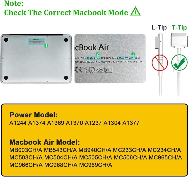Chargeur MacBook Air, 45W Magsafe 2 Adaptateur pour MacBook