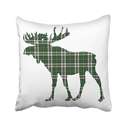 Amazon Capsceoll Cape Breton Canada Custom Tartan Moose Rustic Interesting Decorative Throw Pillows Canada