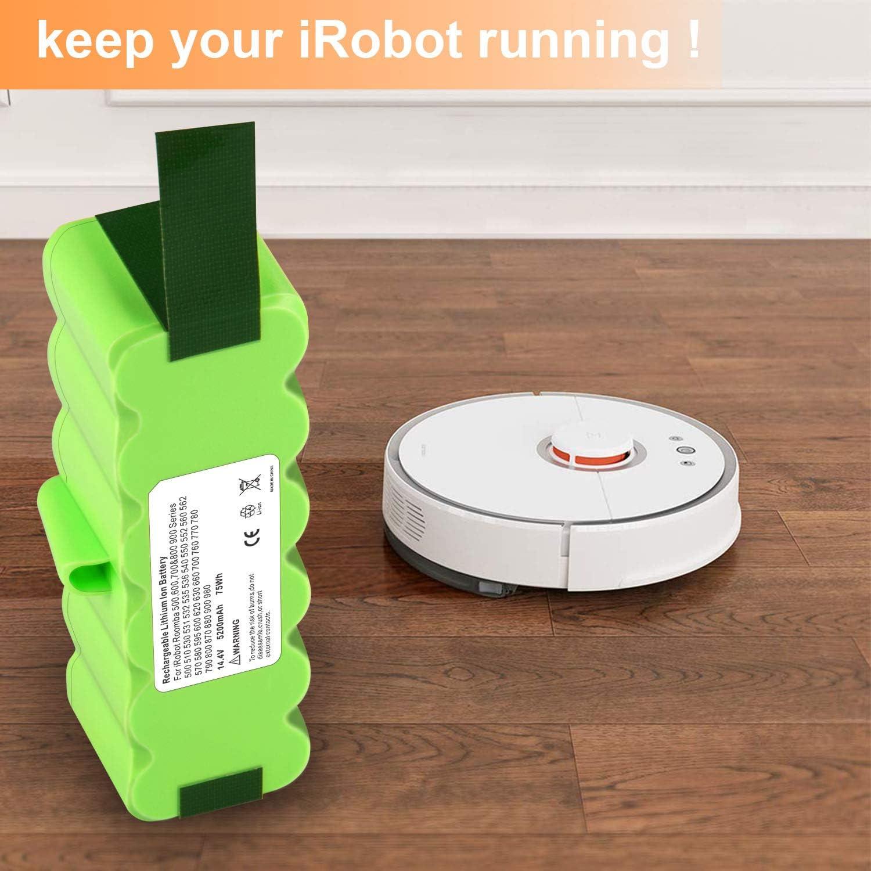 3800mAh Ni-MH Battery for Irobot Roomba 500 510 530 531 532  535 536 540 LOT TM