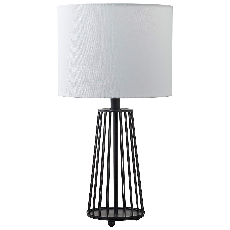 "Stone & Beam Metal Light Modern Metal Base Table Lamp with Bulb, 22""H, Matte Black"