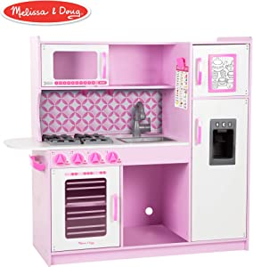 "Melissa & Doug Chef's Kitchen, Pretend Play Set, Cupcake (Easy to Assemble, Durable Wooden Construction, Multiple Working Parts, 39"" H x 43.25"" W x 15.5"" L)"