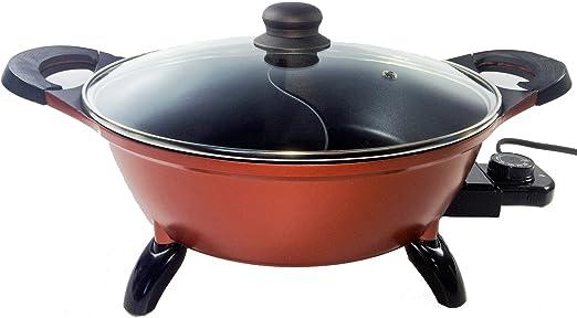 Electric Mongolian Pot With Divider Shabu Hot Pot
