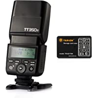 Godox Mini Thinklite TT350-F DSLR Camera Speedlite Hot Shoe TTL 2.4G 1/8000s Flash for Fuji Fujifilm SLR Mirrorless Digital Cameras with Tarion Card Case (Black)