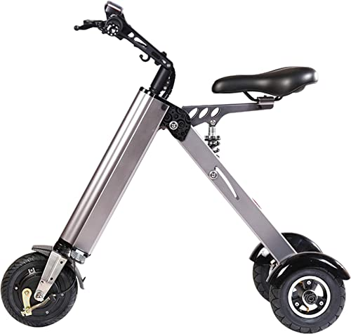 TopMate ES31 Electric Scooter Mini Foldable Tricycle Weight 14KG with 3 Gears Speed and 3 Shock Absorbers Suitable for Travel and Leisure Activities