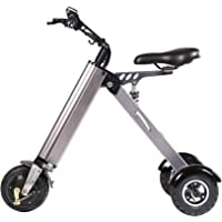 TopMate ES31 Electric Scooter Mini Foldable Tricycle Weight 14KG with 3 Gears Speed Limit 6-12-20KM/H and 3 Shock Absorbers | Especially Suitable for People Over 50 Age On A Trip