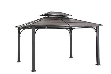 Sunjoy 10u0027 x 12u0027 Galvanized Steel Hardtop Gazebo - Faux Copper Top  sc 1 st  Amazon.com & Amazon.com : Sunjoy 10u0027 x 12u0027 Galvanized Steel Hardtop Gazebo ...