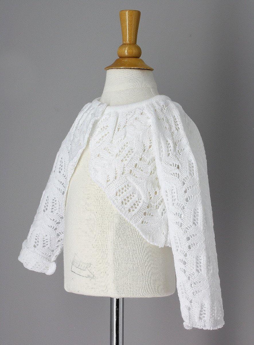 Boutique-Magique Kleine Jacke aus Haken Baby wei/ße/ /Produkt Gespeichert und verschickt Schnell seit Frankreich