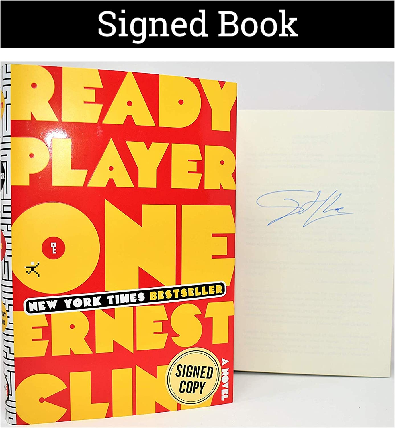 Ready Player One Autographed By Ernest Cline Signed Book At Amazon S Entertainment Collectibles Store