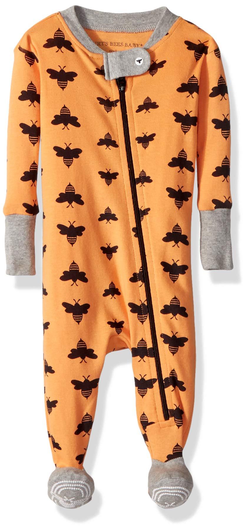 Sleeper Pajamas, Zip Front Non-Slip Footed Sleeper PJs, 100% Organic Cotton