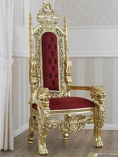 Simone Guarracino Trono Lion Stile Barocco Francese Poltrona Reale ...