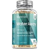 Water Away Vochtafdrijver - Natuurlijke vochtafdrijver tegen het vasthouden van vocht - Homeopatische capsules voor het…