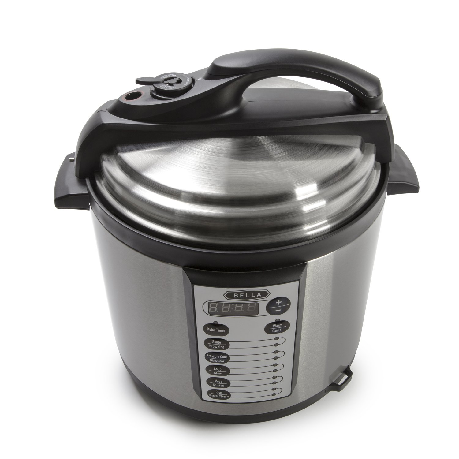 BELLA BLA14467 6 Qt 10-In-1 Multi-Use Programmable Pressure Cooker, Slow Cooker, Rice Cooker, Steamer, Saute, Warmer with Searing and Browning Feature, 1000 Watts by BELLA (Image #2)