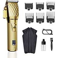 Fade King all metal quiet motor Hair Clippers for Men Professional Cordless Clippers for Hair Cutting Beard Trimmer…