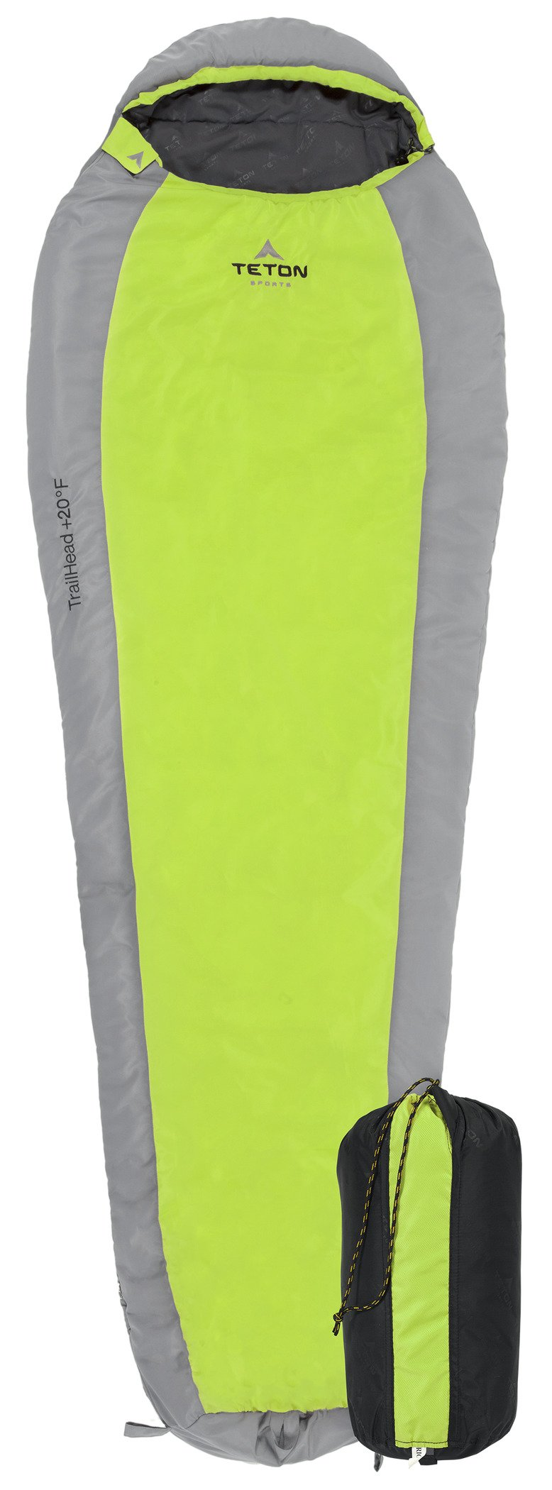 TETON Sports TrailHead Scout Ultralight Mummy Sleeping Bag; Lightweight Backpacking Sleeping Bag for Hiking and Camping Outdoors; Never Roll Your Sleeping Bag Again; Green/Grey by TETON Sports
